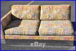 Large Selig Chrome Sectional Sofa Mid Century Modern Milo Baughman