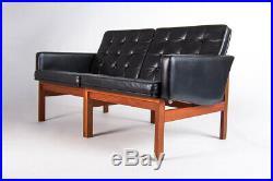 Leather Moduline Sofa France & Son Mid Century Furniture Danish Armchair 1950's