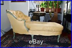 Louis De XIV Bergere Provincial French antique fainting couch (1930) $950