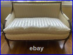 Louis XVI style canape sofa settee. Recently reupholstered