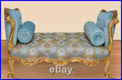 Louis XV French style bench in gold leaf