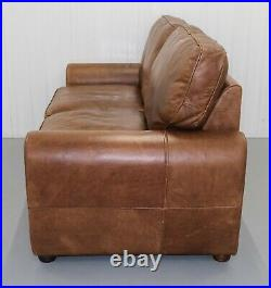 Lovely The Vintage Tanning Company By Halo Brown Leather Two Seater Sofa