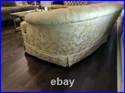 MCM Regency Style Clyde Pearson Tufted Back Silk Sofa