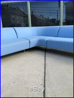 MID Century Modern Style Arper Made In Italy Italian Sectional 3 Section Sofa