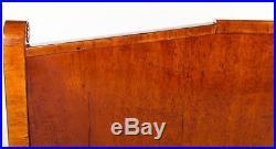 Mid 19th c. Russian Biedermeier burlwood (Karelian birch) settee