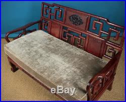 Mid 20th. C. Chinese Oriental Couch c. 1950