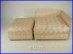 Mid 20th Century Modern Baker Sofa/Daybed/Chaise withOttoman Parzinger Era