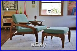 Mid Century Adrian Pearsall Lounge Chair and Ottoman (new upholstery)