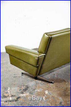 Mid Century Danish Modern Couch Sofa Svend Skipper Avocado Green 3 Seater Tandem