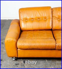 Mid Century Danish Modern Couch Sofa Svend Skipper Mustard Yellow Low 3 Seat