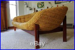 Mid Century Danish Modern Floating Teak Sofa