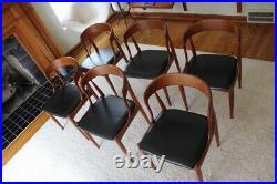 Mid Century Danish Modern Johannes Andersen for Uldum Teak Dining Chairs