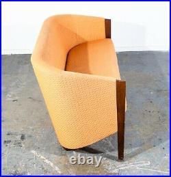 Mid Century Danish Modern Sofa Couch Getema Oak Hans Wegner Ditzel Denmark Tan