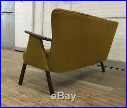 Mid Century Danish Modern Wegner style Paddle Arm Sofa Settee
