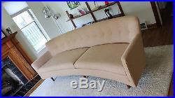 Mid Century Danish Modern teak sofa, Edward Wormley Dunbar Style, New Upholstery