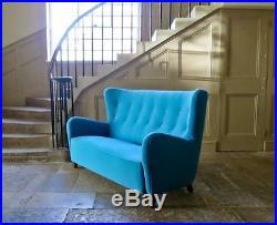 Mid Century Danish Sofa Wool 1950's Vintage Reupholstered Hans Wegner Era