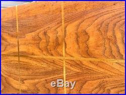 Mid Century Milo Baughman Wood Case Loveseat