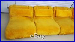 Mid-Century Mod Sofa Vintage 5 piece Carsons High Point Modular Sofa FUZZY COUCH