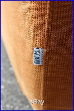 Mid Century Modern B&B Italia Curved Sectional Sofa & Lounge Chair Set