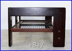 Mid Century Modern Bastiano Rosewood Sofa Tobia Scarpa Gavina Knoll 1968 Italy