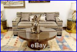 Mid Century Modern Baughman Style Loveseat Sofa 1970s Lenor Larsen Style