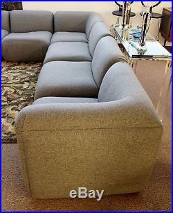 Mid Century Modern Baughman Thayer Coggin Gray 7 Piece Modular Sectional Sofa : 7 piece modular sectional - Sectionals, Sofas & Couches