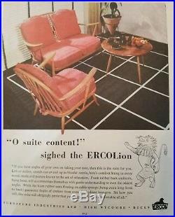 Mid Century Modern/ Danish Modern Love Seat 1950's Atomic Mod