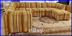 Mid Century Modern Danish Selig Monroe 6 Pc Modular Sofa Sectional Ottoman 70s