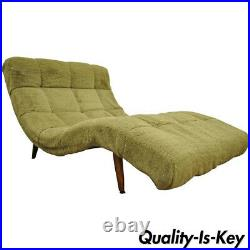 Mid Century Modern Double Wide Green Wave Chaise Lounge attr. To Adrian Pearsall