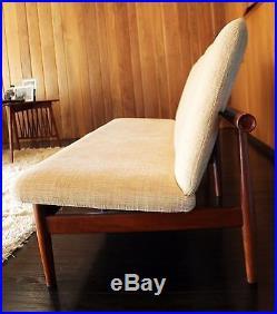 Mid Century Modern Finn Juhl France & Son Denmark Danish Teak Rare Japan Sofa