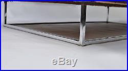 Mid Century Modern Floating Burl Wood Case Sofa/Love Seat/Settee Baughman Era
