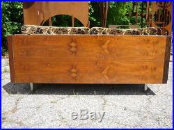 Mid Century Modern Floating Rosewood Case Sofa/Love Seat/Settee Baughman Era