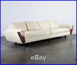 Mid Century Modern Gondola Sofa Couch Flexsteel Adrian Pearsall Vintage Large NM