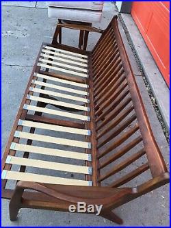 Mid Century Modern Kofod Larsen sofa reupholstered in Knoll diva fabric