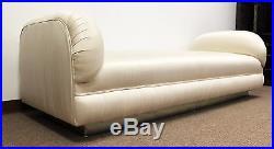 Mid Century Modern Large Kagan Chaise Sofa with Chrome Plinth Base