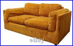 Marvelous Mid Century Modern Milo Baughman Pair Of Orange Sofa Uwap Interior Chair Design Uwaporg