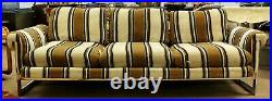 Mid Century Modern Milo Baughman Thayer Coggin Floating Chrome Sofa 1970s