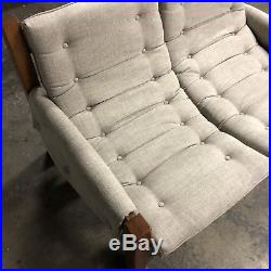 Mid Century Modern Percival Lafer Style Sling Sofa Settee Chair NEW UPHOLSTERY