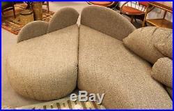 Mid Century Modern Rare Large Roche Bobois Sculptural Sectional Sofa Kagan Era
