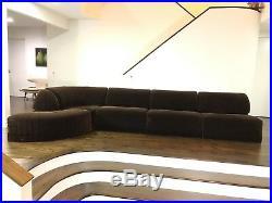 Mid Century Modern Roche Bobois Six Piece Sectional Sofa
