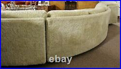Mid Century Modern Sculptural Serpentine Sofa Sectional by Adrian Pearsall 1970s