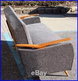 Mid Century Modern Sculptural Sofa Daybed Danish Hvidt Style 1960s