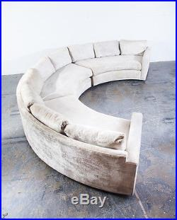 Superieur Mid Century Modern Sectional Sofa Couch Milo Baughman Thayer Coggin Round  Curved