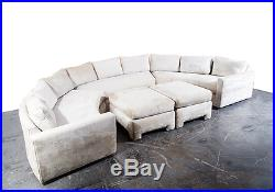 Mid Century Modern Sectional Sofa Couch Milo Baughman Thayer Coggin Round Curved