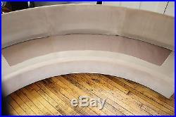 Mid Century Modern Semi Circle Sectional Sofa Attributed to Milo Baughman