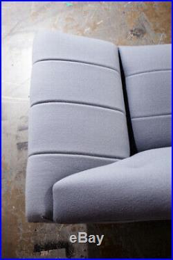 Mid Century Modern Sofa Couch Gondola Thunderbird Flexsteel Adrian Pearsall Gray