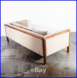 Mid Century Modern Sofa Couch Knoll Nelson Milo Baughman Dunbar Club Walnut Case
