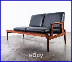 Mid Century Modern Sofa Couch Modular Table Black Settee Vintage Danish Risom VG