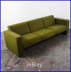 Mid Century Modern Sofa Couch Retro Vintage Green Herman Miller Knoll Danish 70s