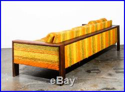 Mid Century Modern Sofa Couch Solid Walnut Cube Case Adrian Pearsall Baughman VG